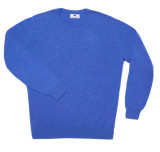 Cashmere Crewneck Sweater in Ocean Blue