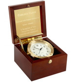 Chelsea Boardroom Clock in Brass