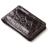 Glazed Alligator Money Clip in Black