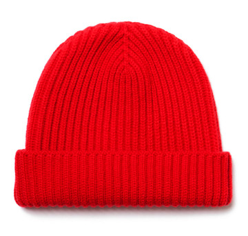 Classic Pure Cashmere Guards Red Watch Cap