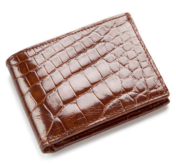 Cognac Alligator Bifold Wallet
