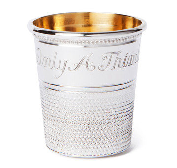Sterling Silver Thimble Bar Measure & Shot Cup