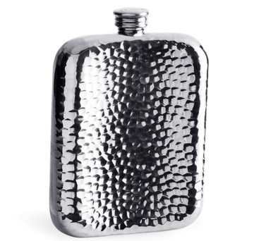6oz Pewter Hammered Flask