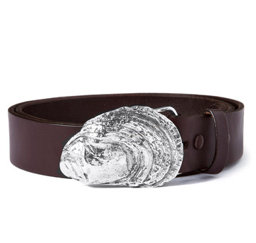 Sterling Oyster Shell Belt Buckle