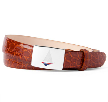 "Glazed Cognac Alligator 1"" Belt Strap"