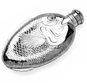 Towle Silver-Plated Fish Hip Flask