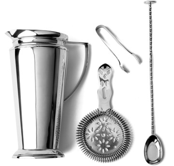 Hukin & Heath Silver-Plated Cocktail Set