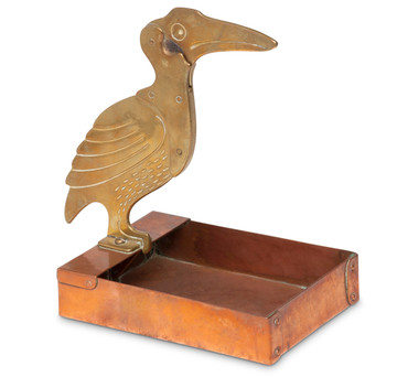 Art Deco Stork Cigar Cutter & Ashtray