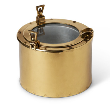 Brass Porthole Wine Cooler