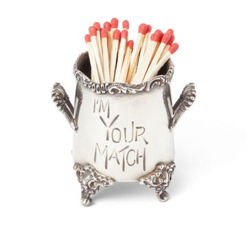 Pairpoint Silver-Plated Match Stick Holder