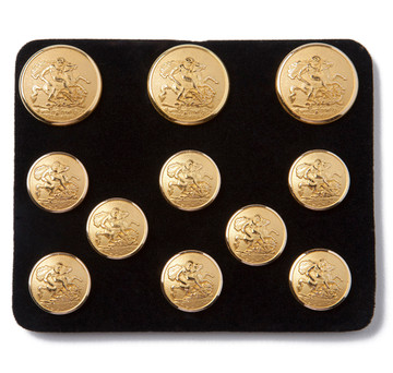 Benson & Clegg St. George & the Dragon Gilt Blazer Button Set