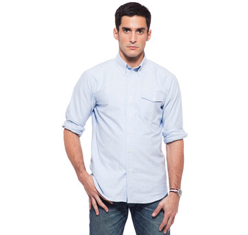 Sudbury Oxford Pocket Shirt in Blue