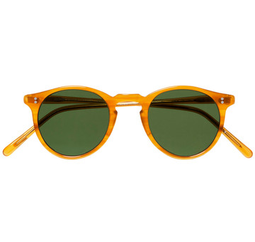 Oliver Peoples O'Malley Sun Amber Tortoise With Green Polar Glass