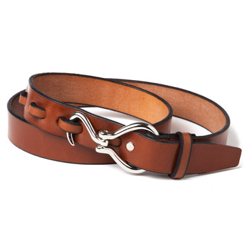 Nickel Hoof Pick Belt in Chestnut
