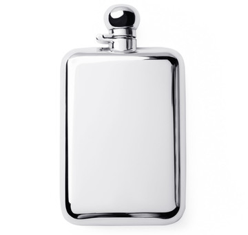 Sterling Silver 6oz Captive Top Flask