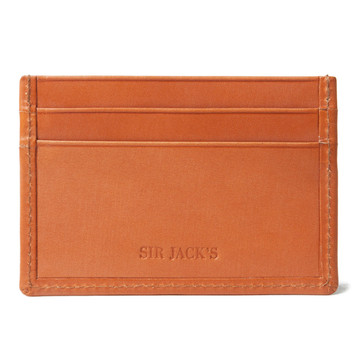 Sir Jack's London Tan Credit Card Holder