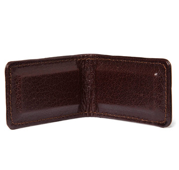 Glazed Alligator Money Clip in Chocolate Brown