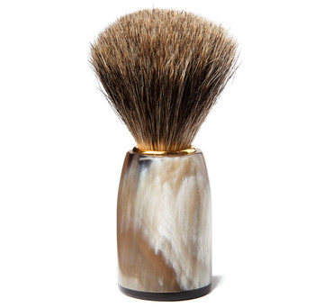 Sir Jack's Ox Horn Handle Badger Brush