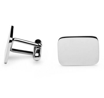 Sterling Silver Rectangle Cufflinks