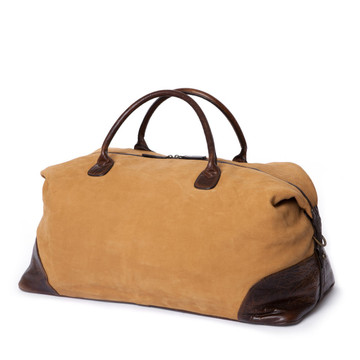 Moore & Giles Benedict Weekend Bag Nubuck Tan