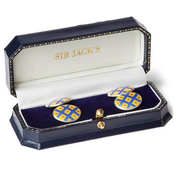 Sir Jack's Sterling Basket Weave Cufflinks