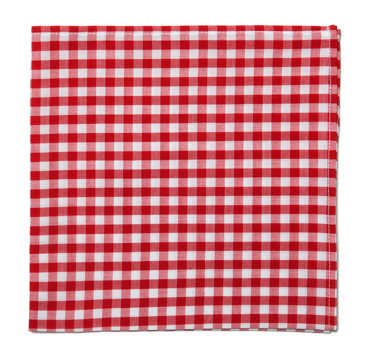 Red Gingham Pocket Square
