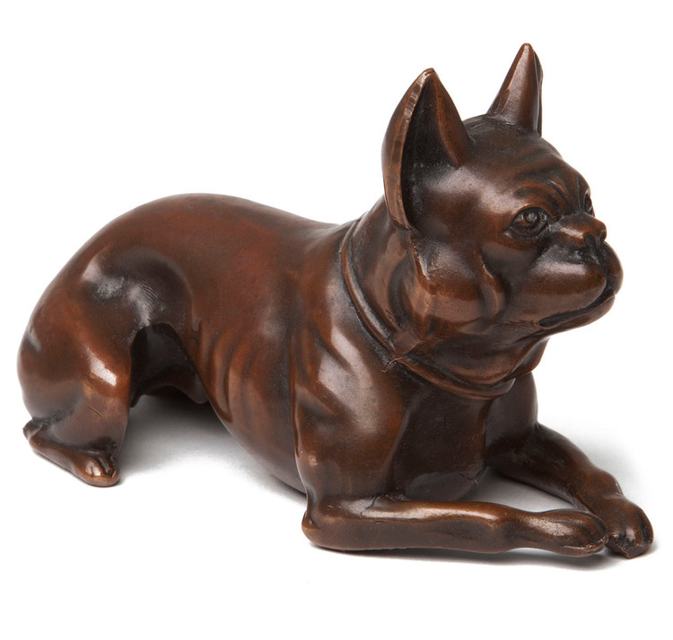 French Bulldog Bronze Paperweight