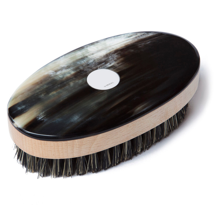Sterling & Ox Horn Oval Hair Brush
