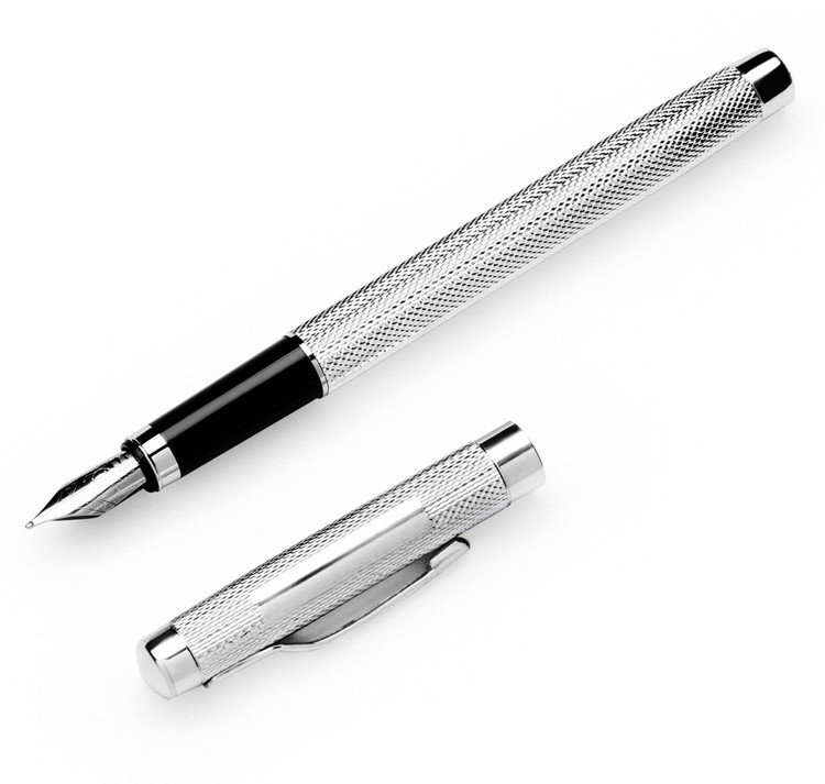 Sterling Silver Engine-Turned Fountain Pen