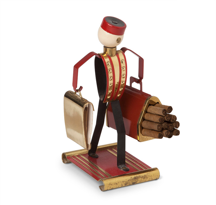 Art Deco Bellhop Cigarette & Matchbook Holder