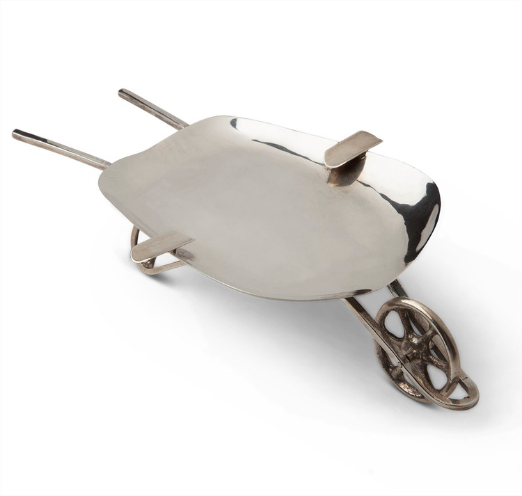 Sterling Silver Figural Wheelbarrow Ashtray