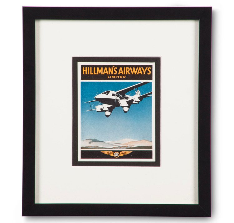 Hillman's Airways Limited Luggage Label
