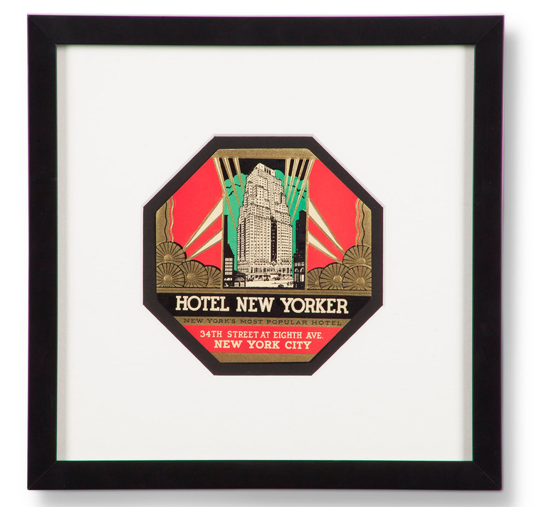 Hotel New Yorker Luggage Label