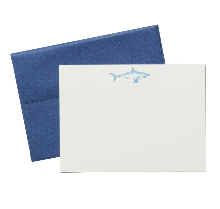 Terrapin Stationers Engraved Shark Stationery Set