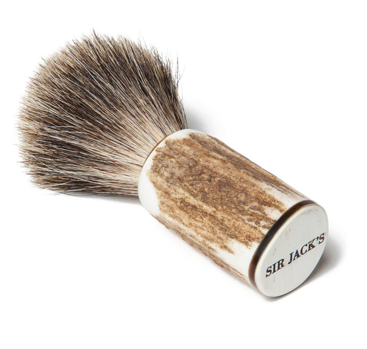 Sir Jack's Stag Handle Badger Brush