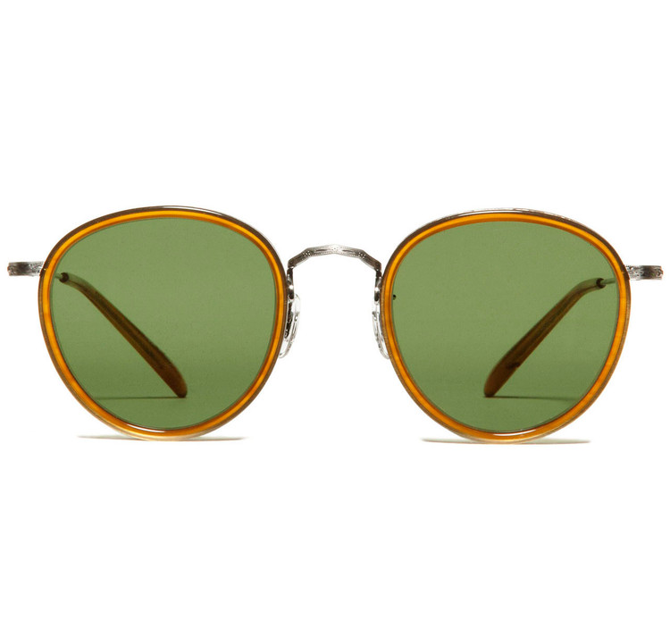Oliver Peoples MP-2 Amber Tortoise / Pewter with Forest Green Polar Glass