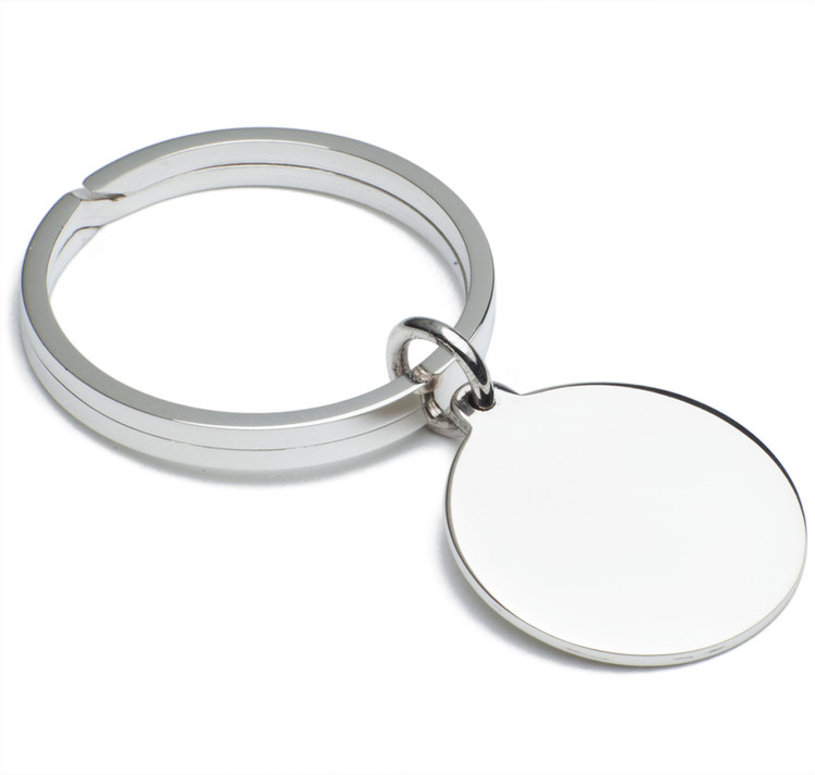 Sir Jack's Sterling Circle Key Ring