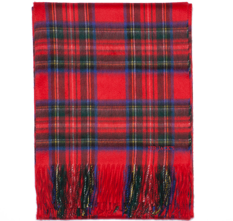 Sir Jack's Cashmere Royal Stewart Tartan Throw