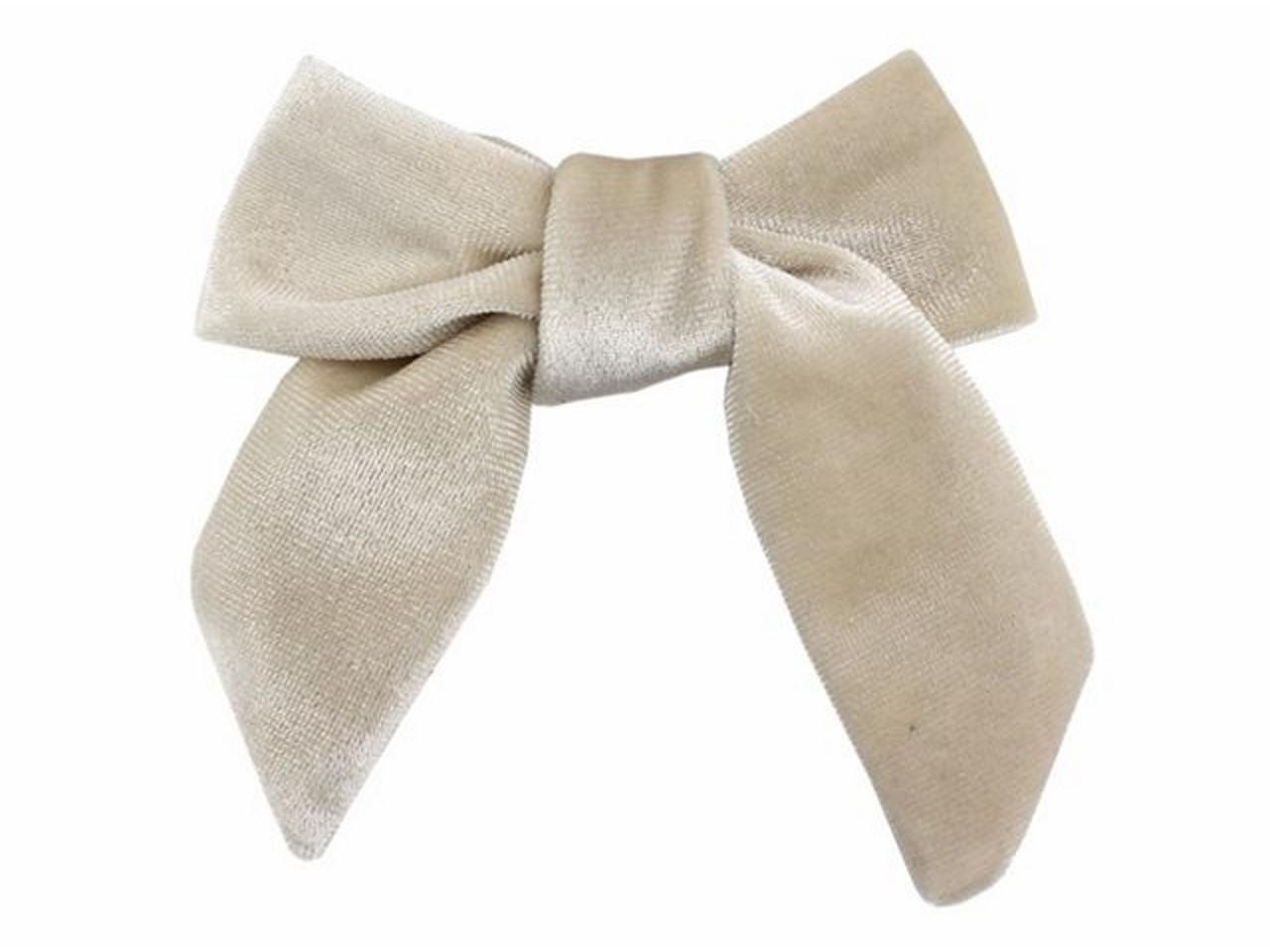 4d3c92f3e6d95 Velvet Sailor Bow Hair Clip - Cream White