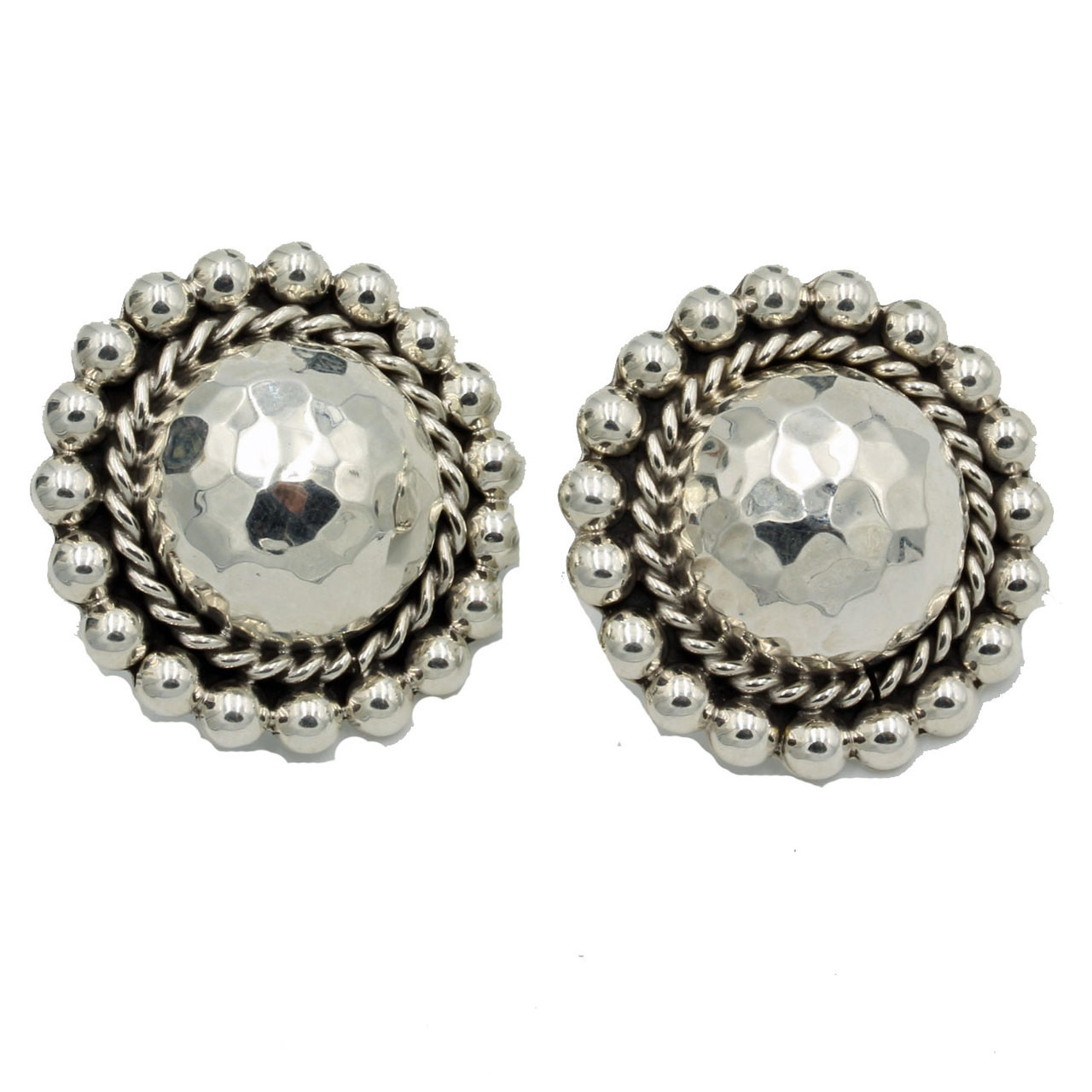 Concho Sterling Silver Earrings