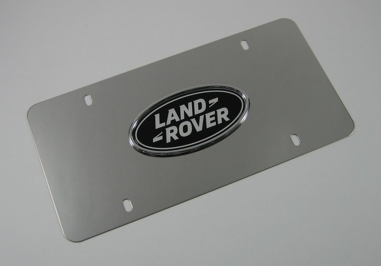 Land Rover Chrome License Plate Insert - LR007528