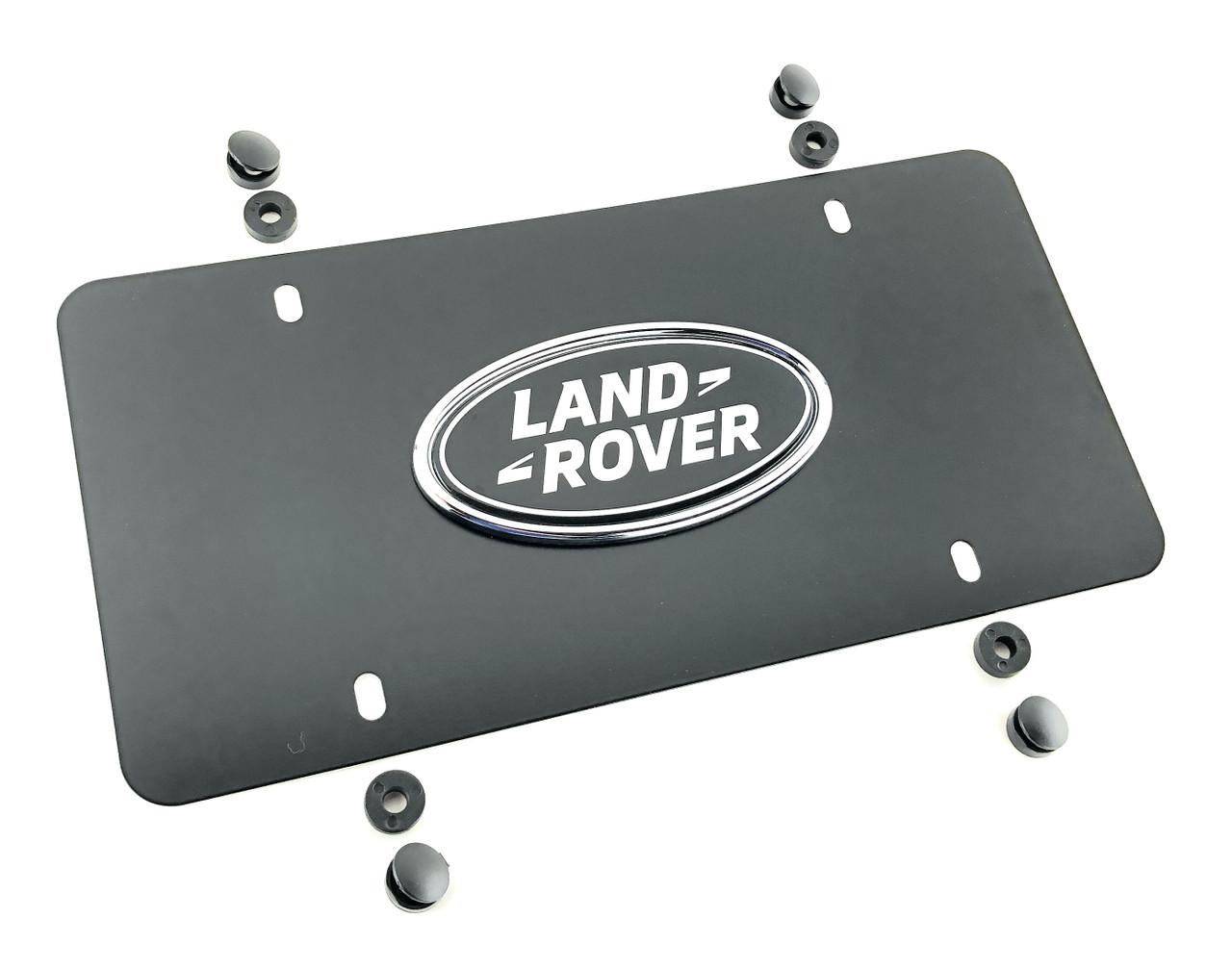 Land Rover Oval Black License Plate Insert - LR007529