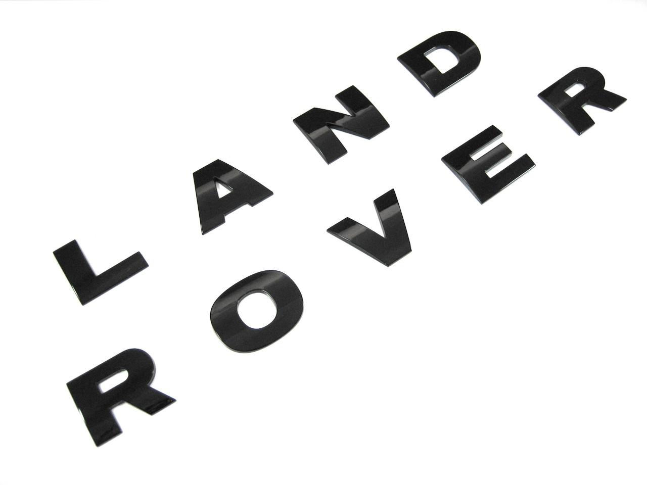 Land Rover LR4 Name Plate Tail Gate Badge Lettering Gloss Black Finish LR043123