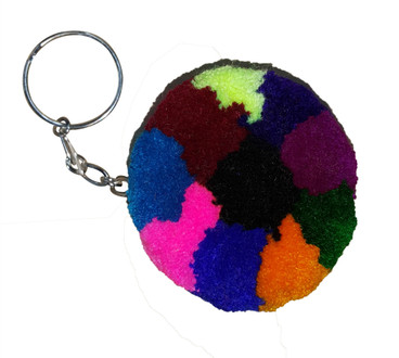 Large Pompom Key Ring