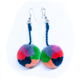 Pom Pom Earrings from Chajul