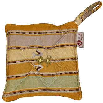Hand Woven Pot Holder with Embroidery