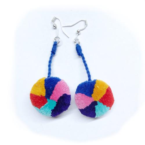 Pom pom earrings variety from Chajul