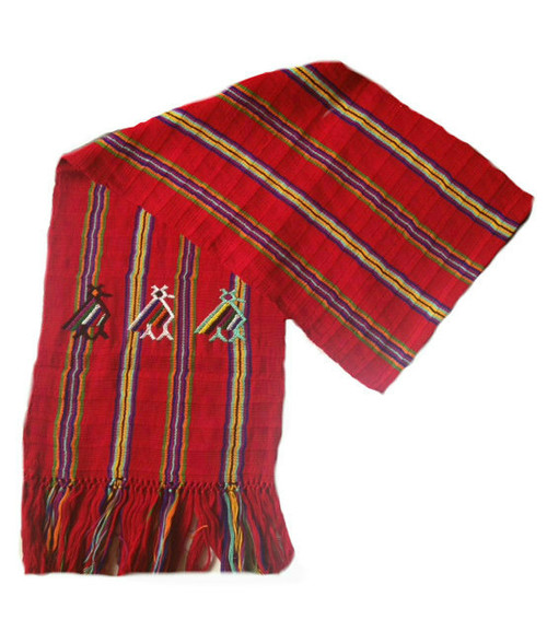 Scarf with Red