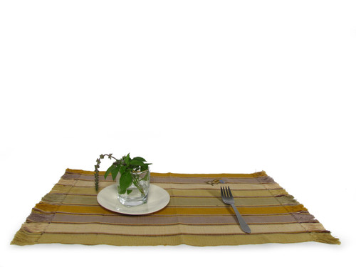 Place mat with Design Gold Colors - T04