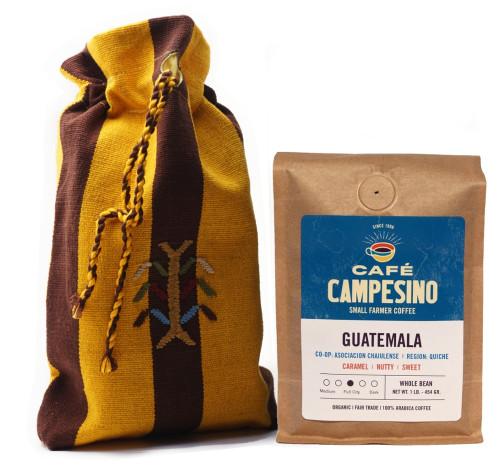 Guatemala Fair Trade Coffee with Handmade Coffee Bag